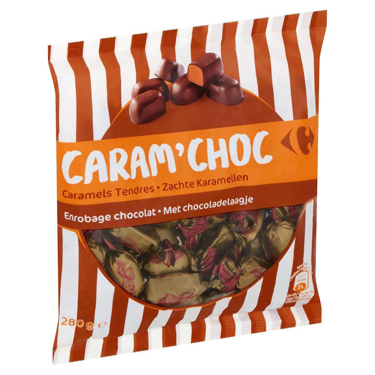 Carrefour Caram' Choc Zachte Karamellen met Chocoladelaagje 280 g