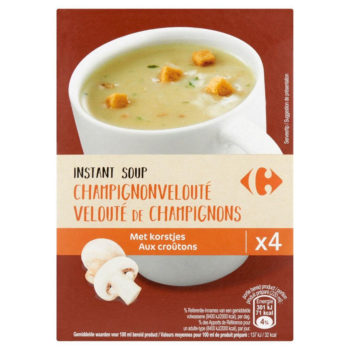 Carrefour Instant Soup Champignonvelouté met Korstjes 4 x 20 g