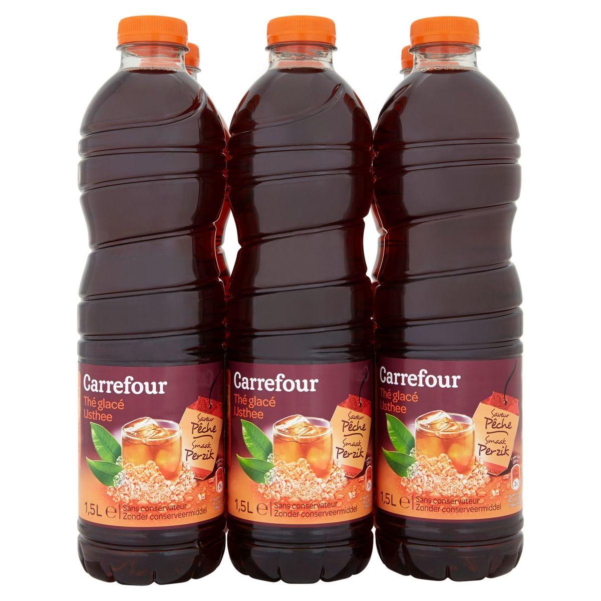 Carrefour Ijsthee Smaak Perzik 6 x 1.5 L