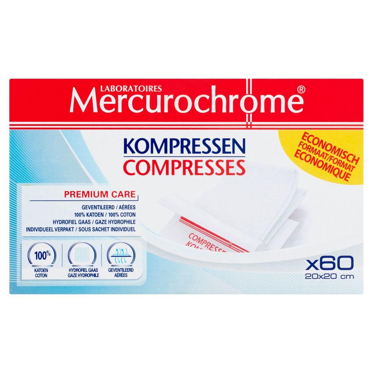 Laboratoires Mercurochrome Compresses 60 Pièces