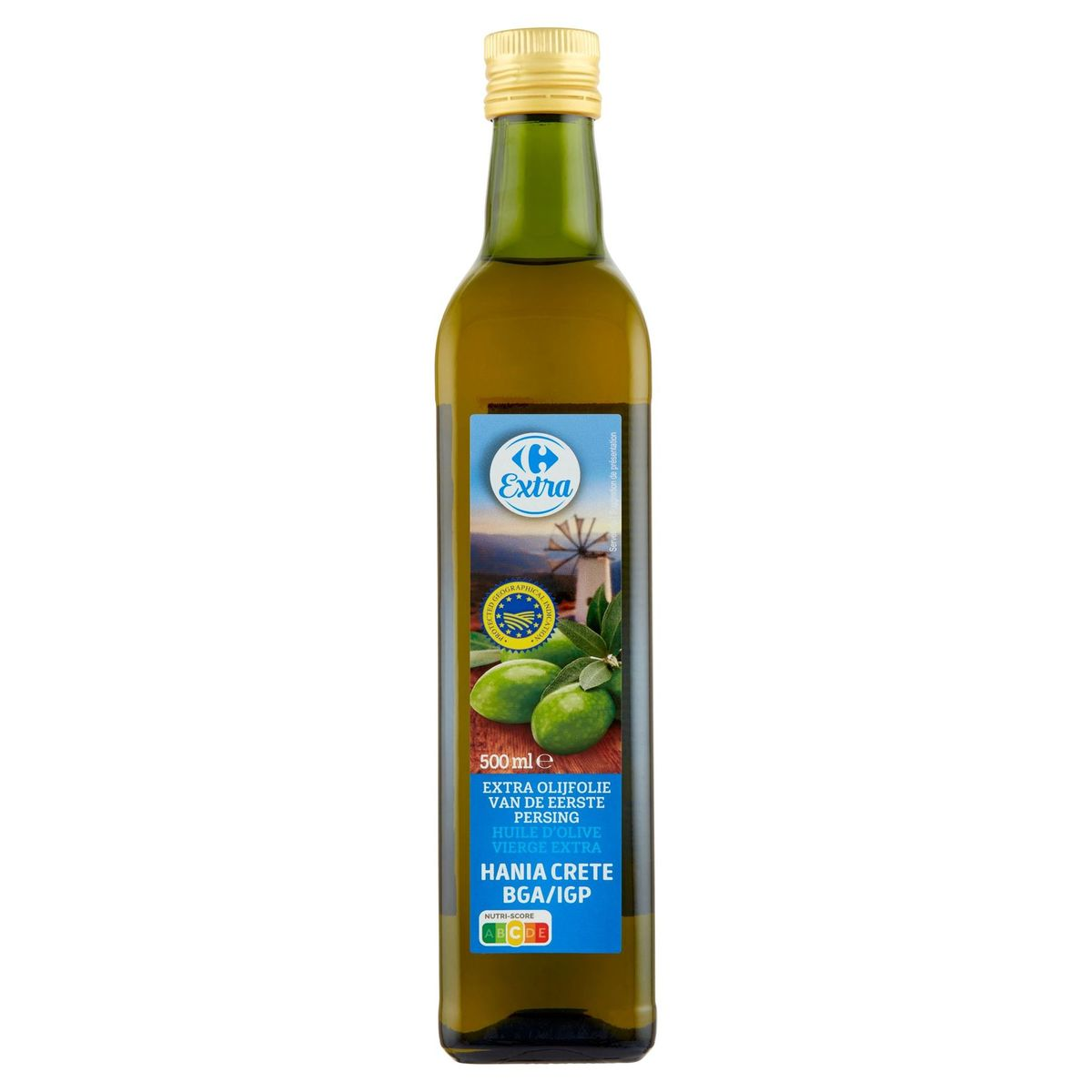 Carrefour Huile d'Olive Hania Crète IGP Vierge Extra 500 ml