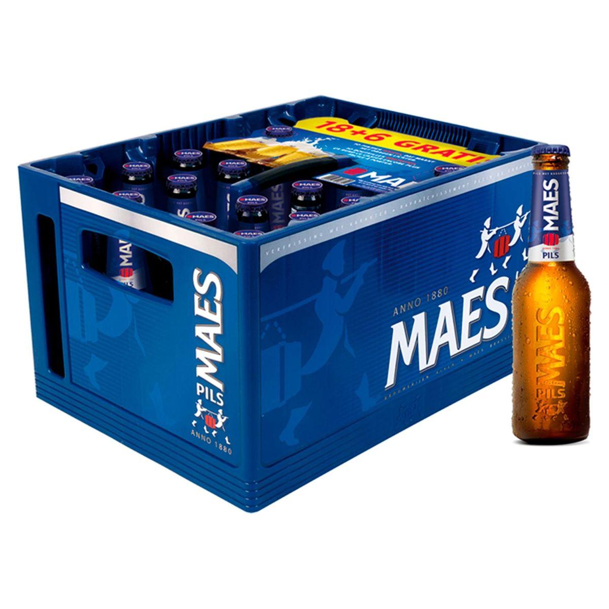 Maes Blond bier Pïls 5.2% ALC Bak 24x25cl 18+6