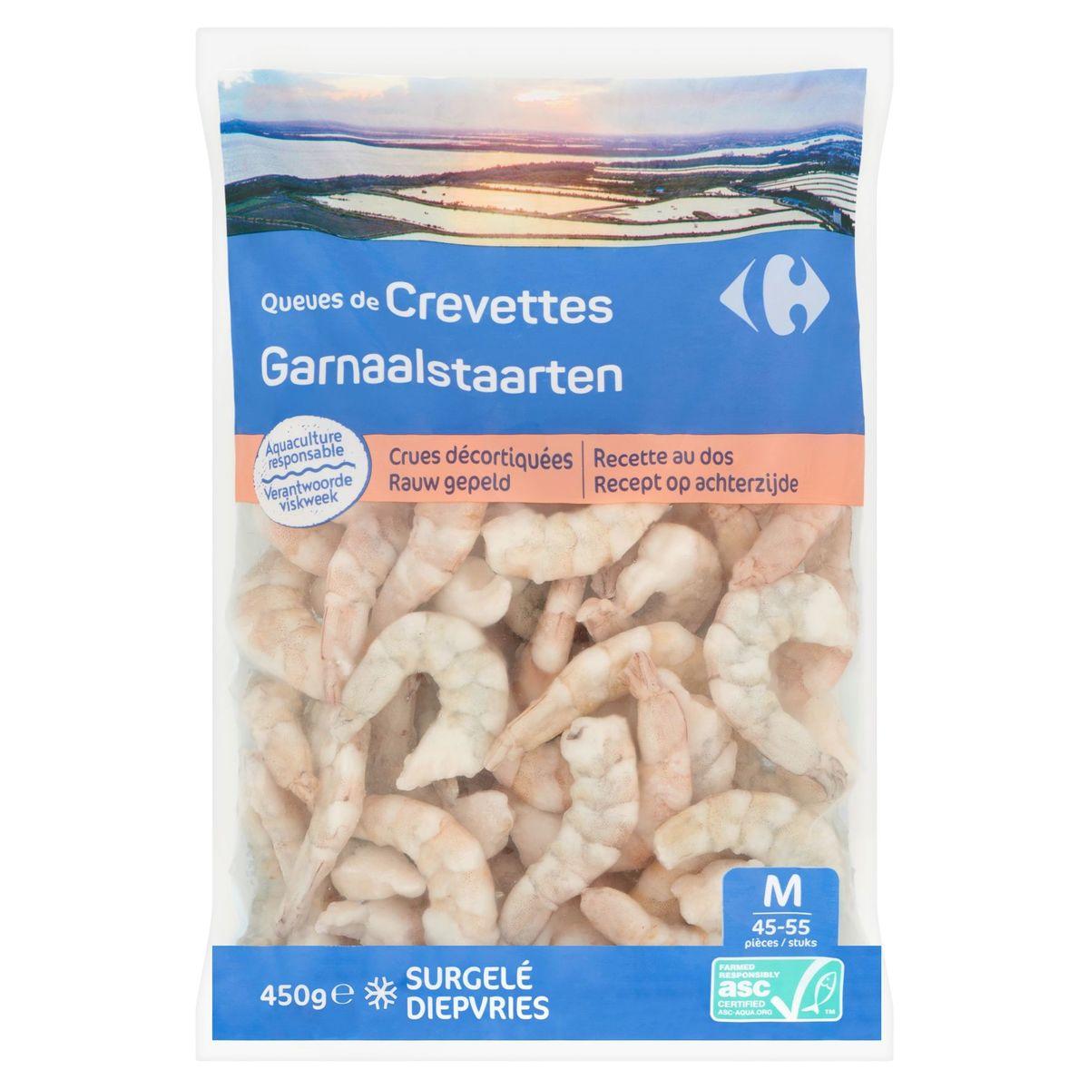 Carrefour Garnaalstaarten Rauw Gepeld M 450 g