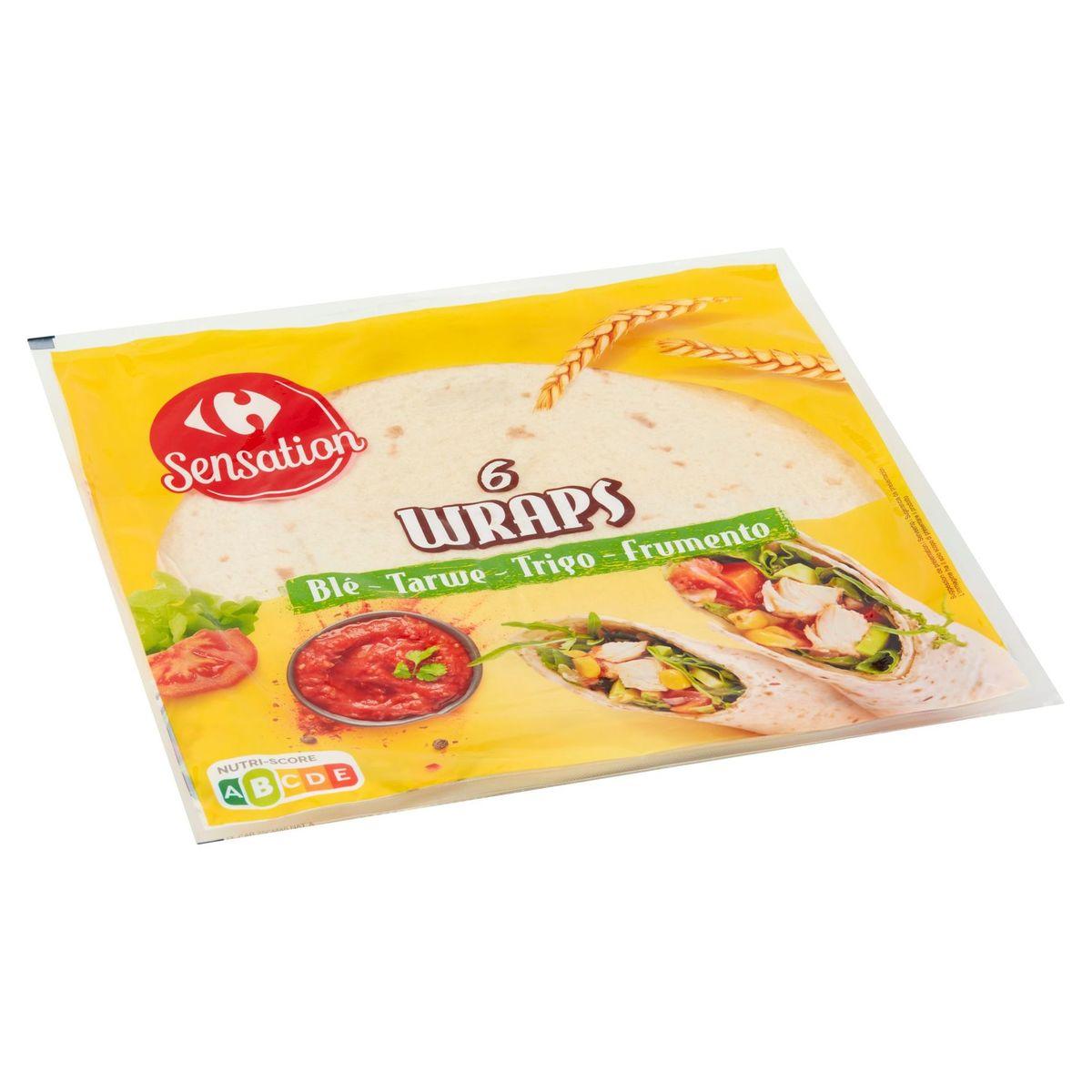 Carrefour Sensation Wraps Tarwe 6 Stuks 370 g