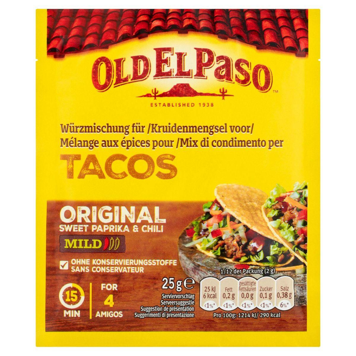 Old El Paso Kruidenmengsel Tacos Sweet Paprika & Chili Mild 25 g