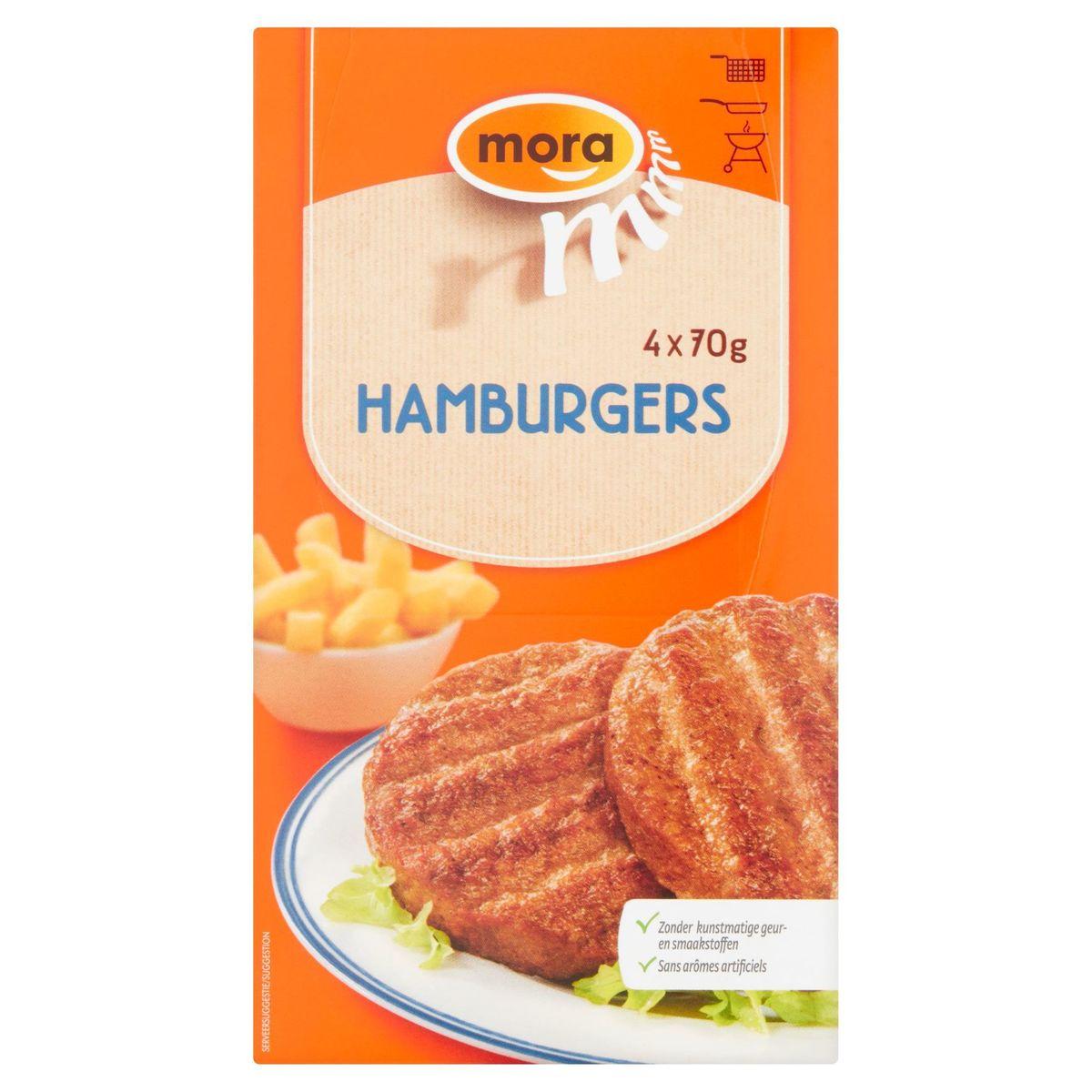Mora Hamburgers 4 x 70 g