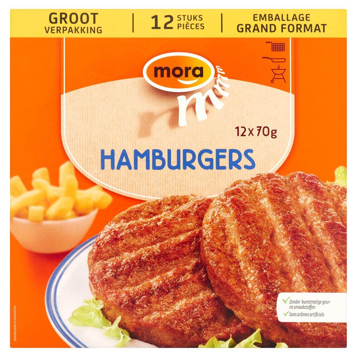 Mora Hamburgers Emballage Économique 12 x 70 g