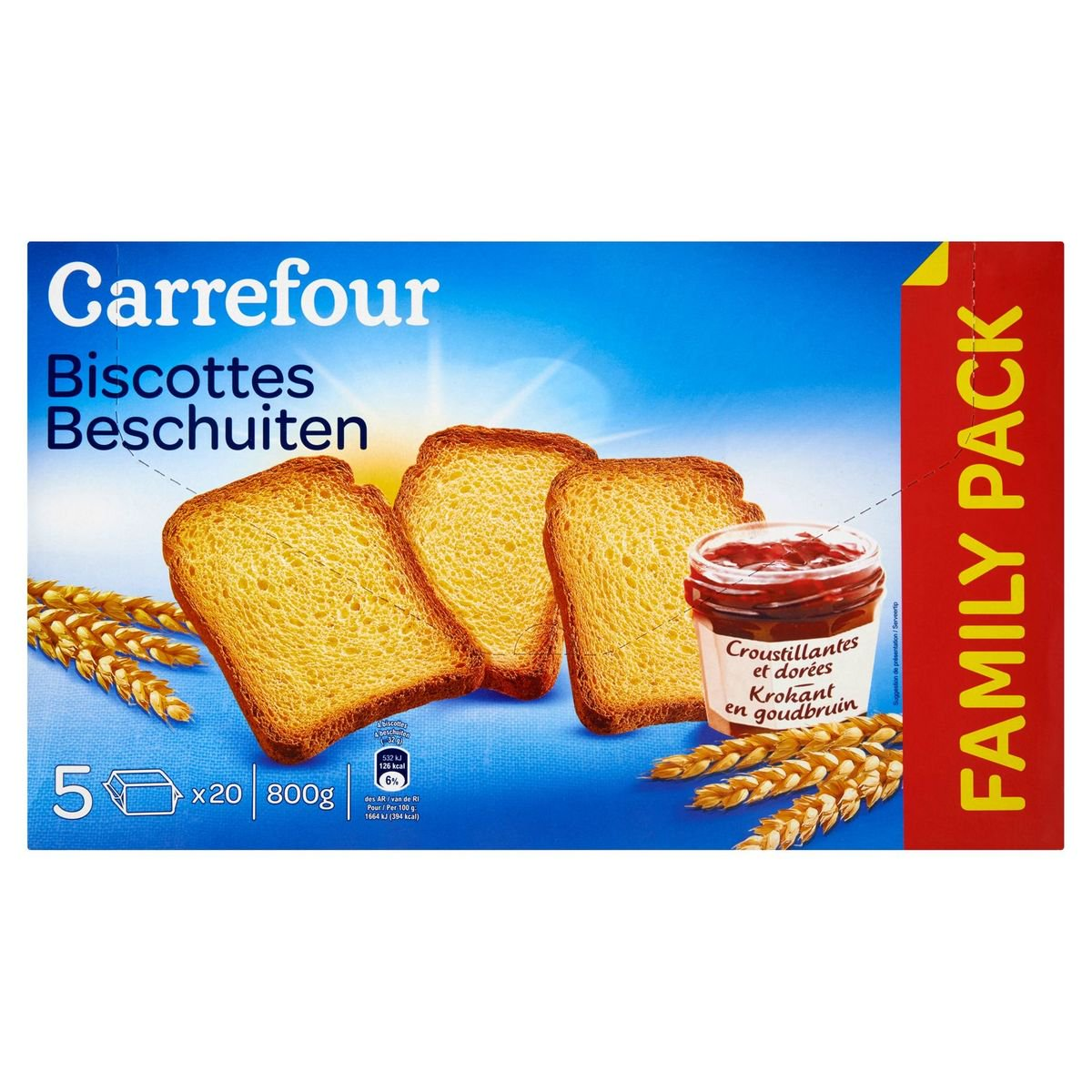 Carrefour Biscottes 800 g