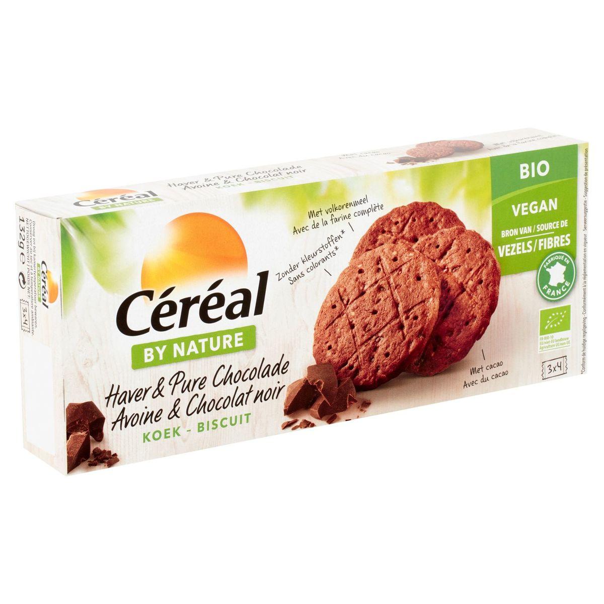 Céréal By Nature Bio Avoine & Chocolat Noir Biscuit 3x4 Pièces 132g