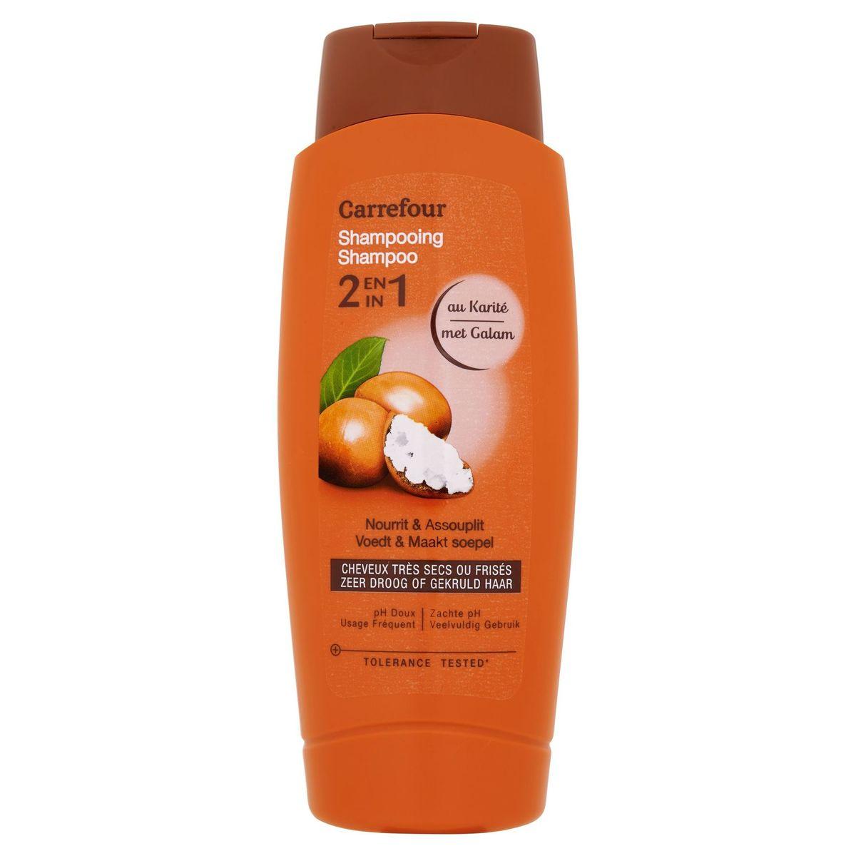 Carrefour Shampooing 2 en 1 au Karité 500 ml