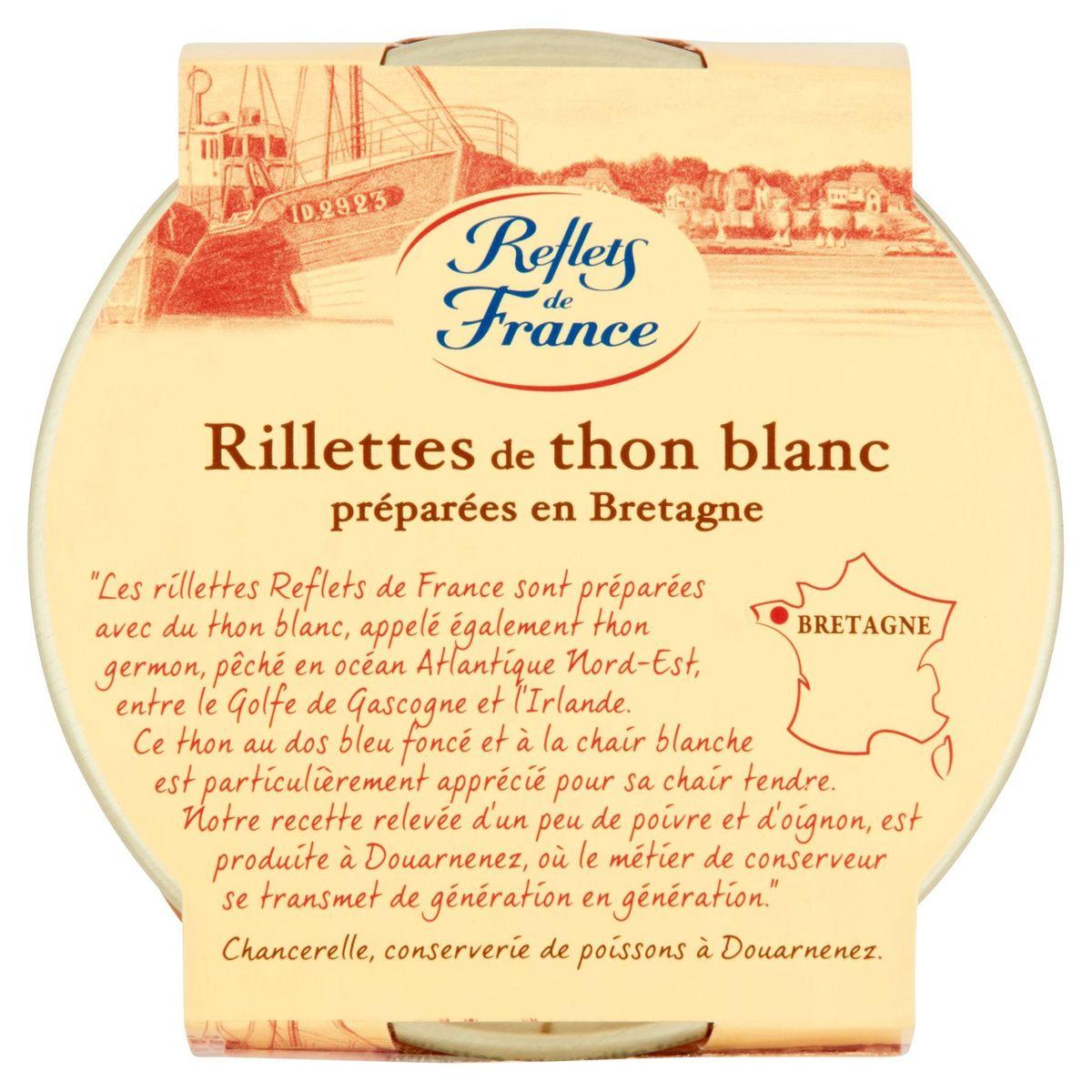 Reflets de France Rillettes de Thon Blanc Préparées en Bretagne 125 g
