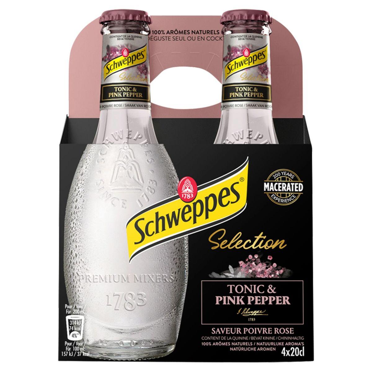 Schweppes Premium Mixer  Pink Pepper 4x20cl