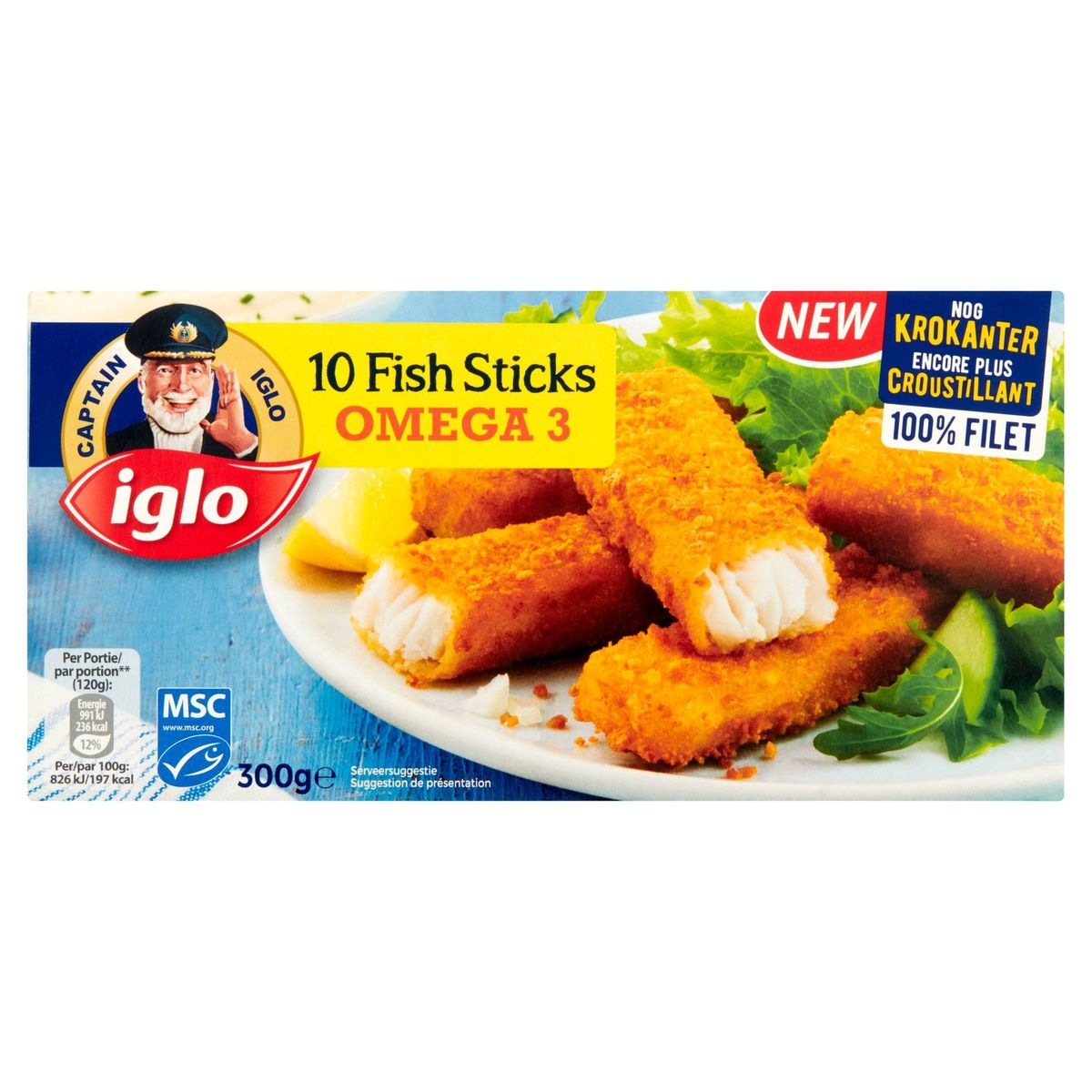 Iglo 10 Fish Sticks Omega 3 300 g