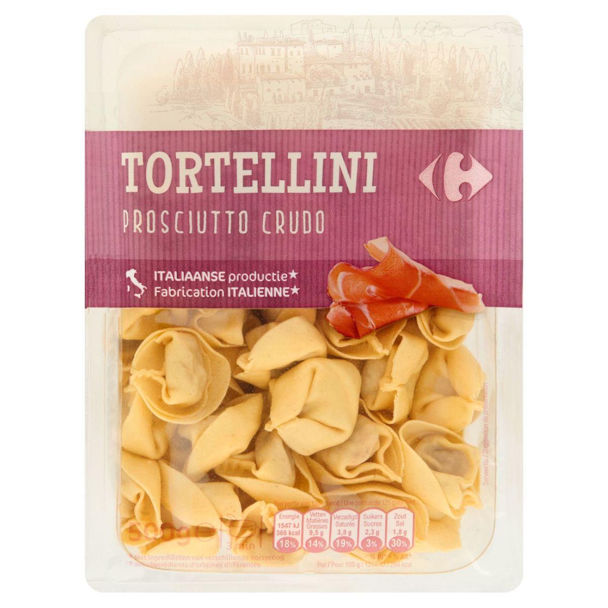 Carrefour Tortellini Prosciutto Crudo 500 g