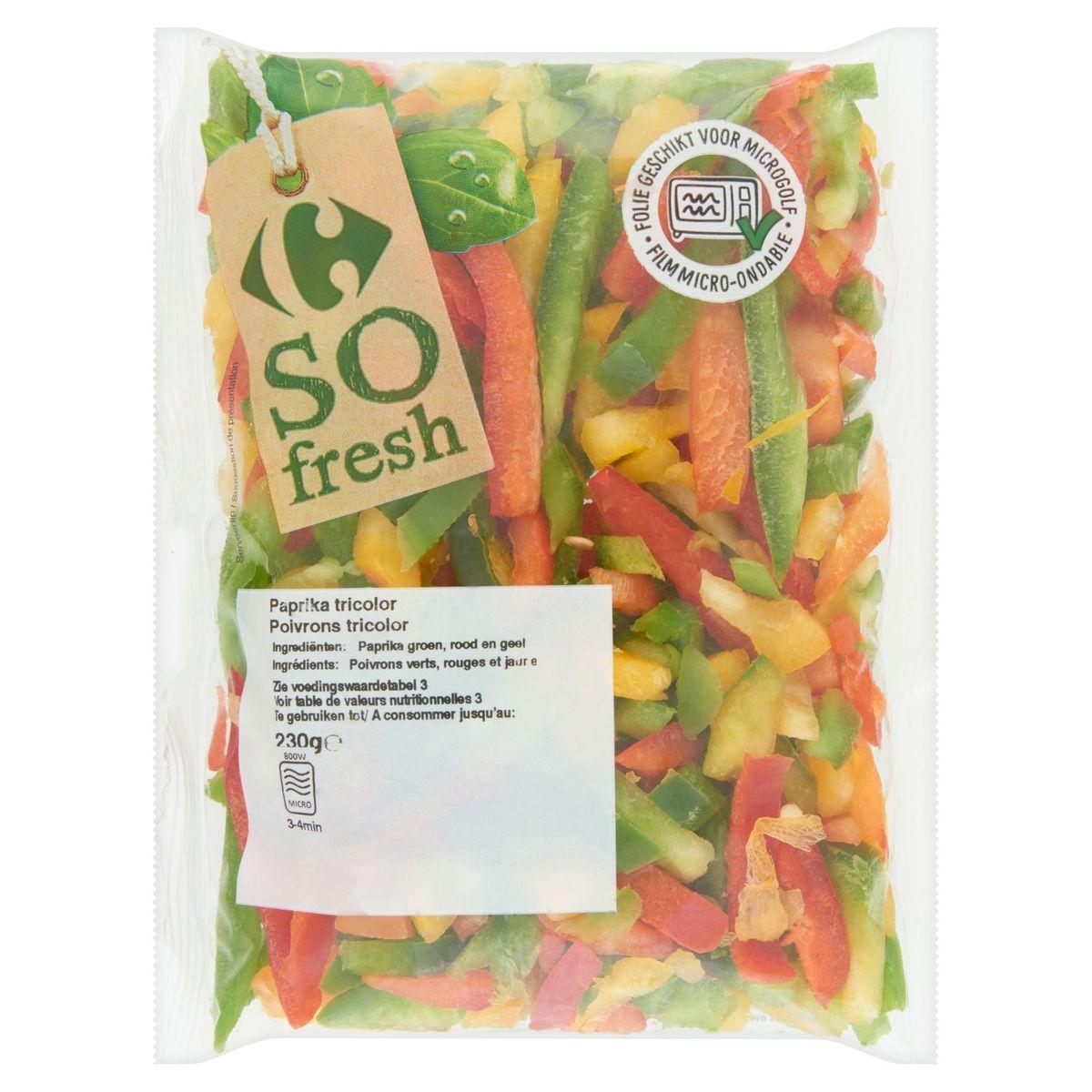 Carrefour So Fresh Poivrons Tricolor 230 g