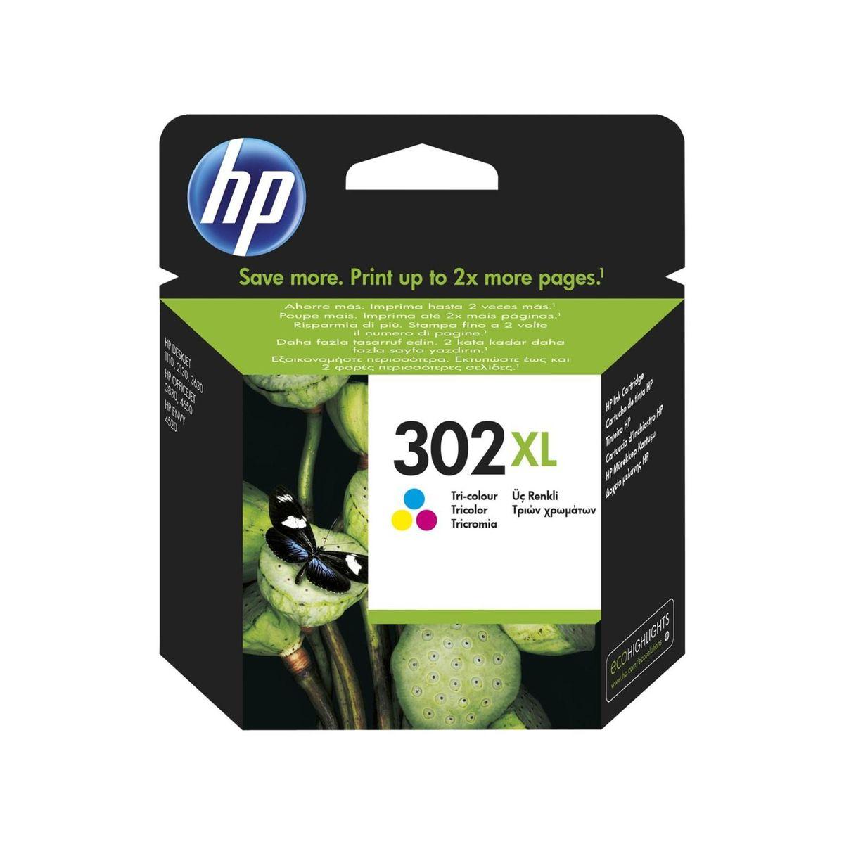HP - Inktcartridge 302XL - Drie-kleuren C/M/Y