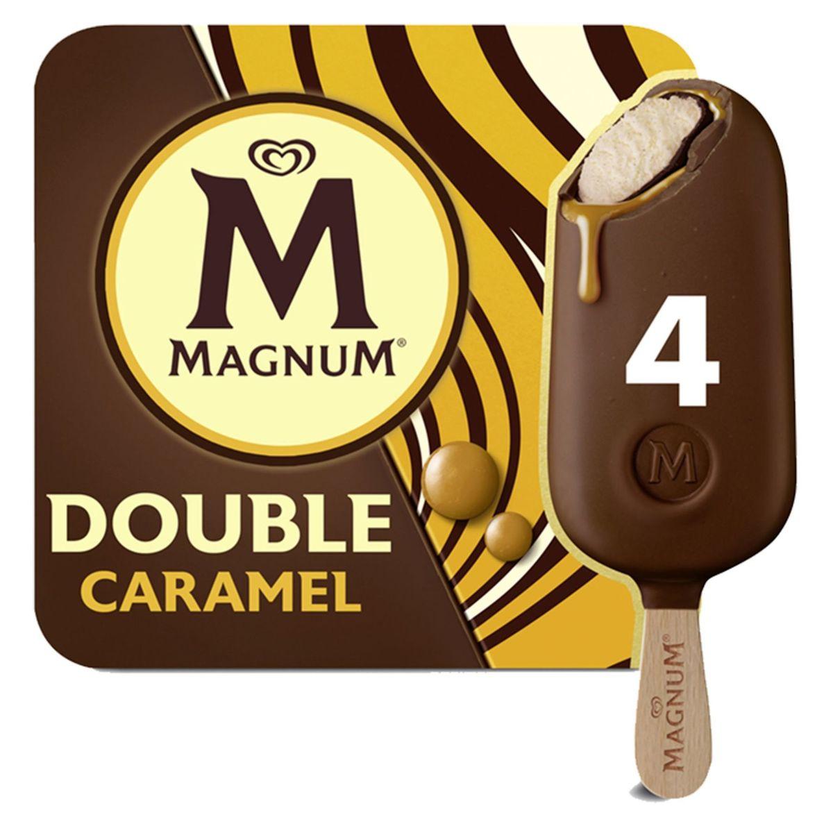 Magnum Ola Ijs Multipack Double Caramel 4 x 88 ml