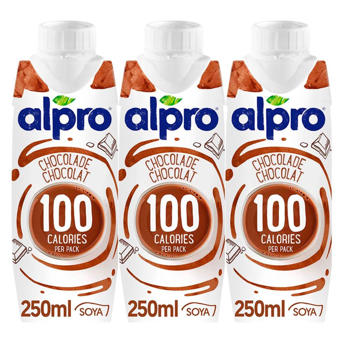 Alpro 100 Kcal Choco Boisson à base de Soja 3 x 250 ml