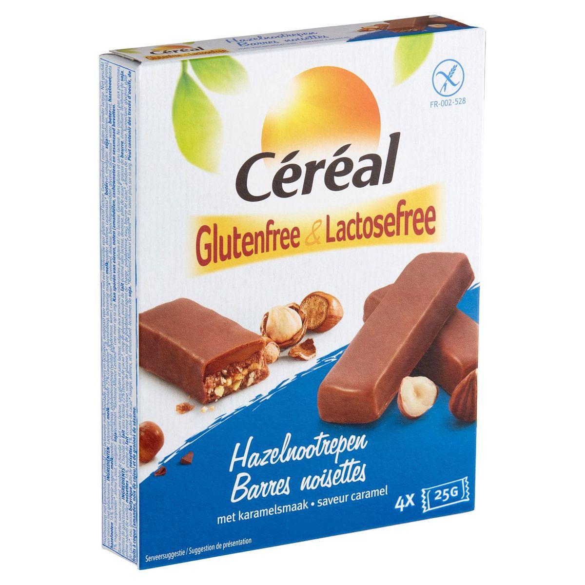 Céréal Glutenfree & Lactosefree Hazelnootrepen met Karamelsmaak 4 x 25 g