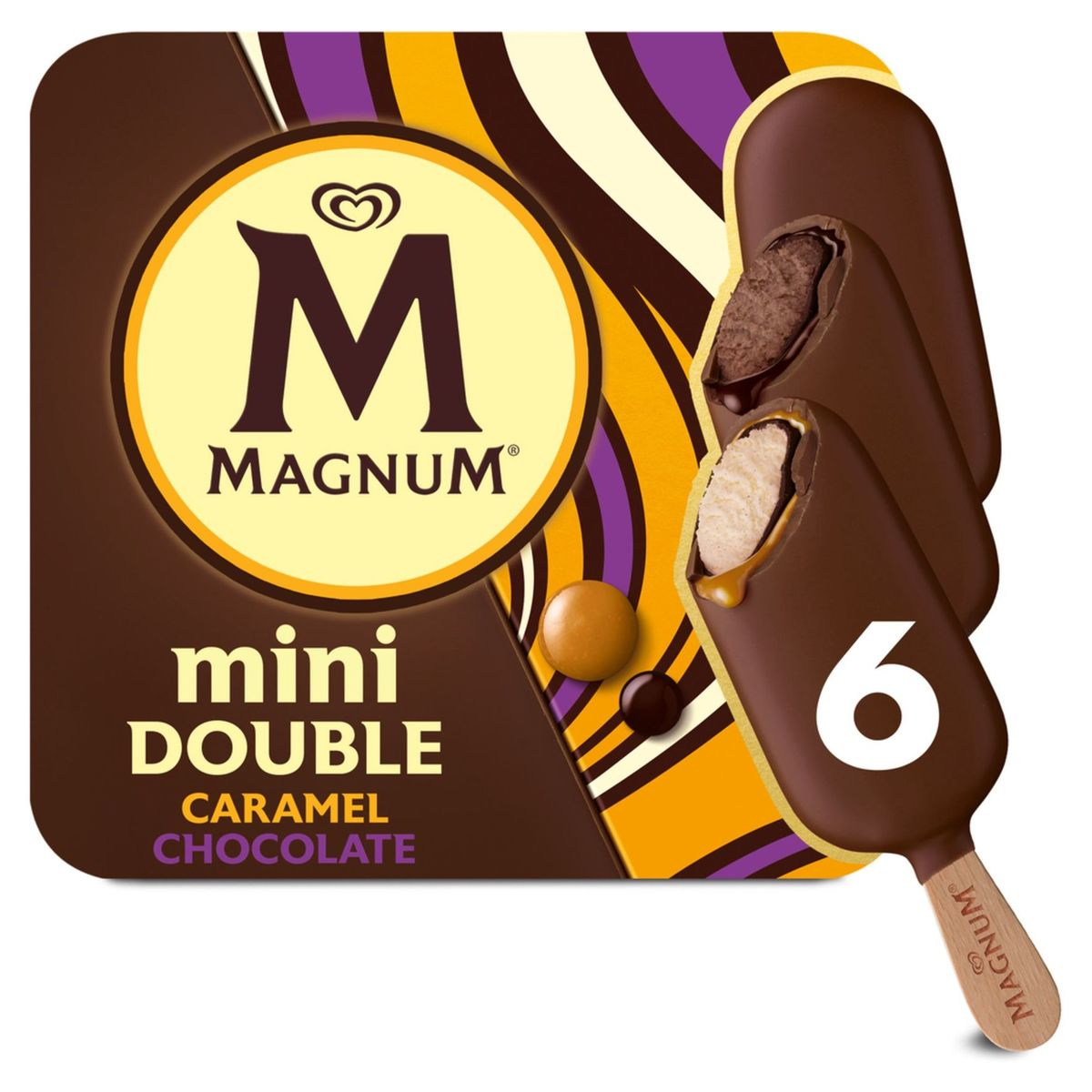 Magnum Ola Ijs Multipack Mini Double Caramel 6 x 60 ml