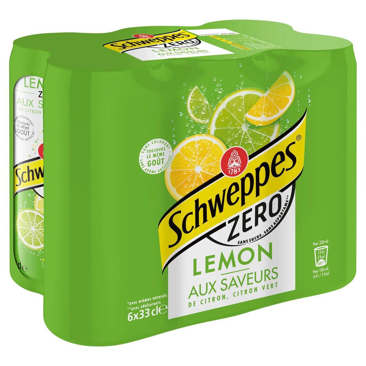 Schweppes ZERO LEMON SLIM CAN 6 x 33 cl