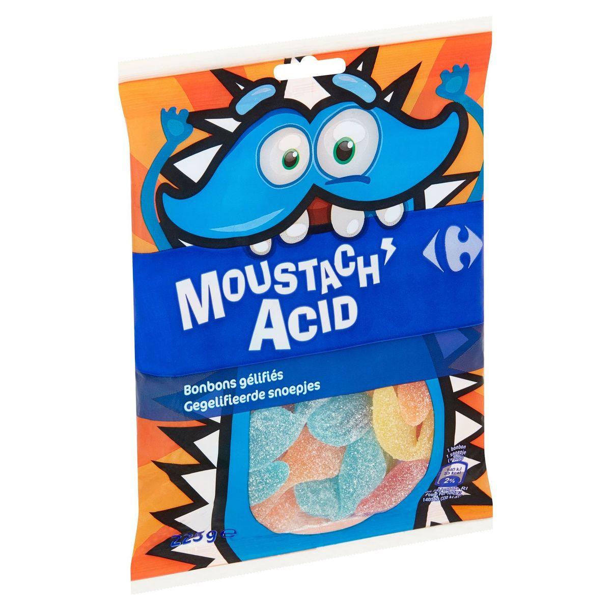 Carrefour Moustach Acid Gegelifieerde Snoepjes 225 g