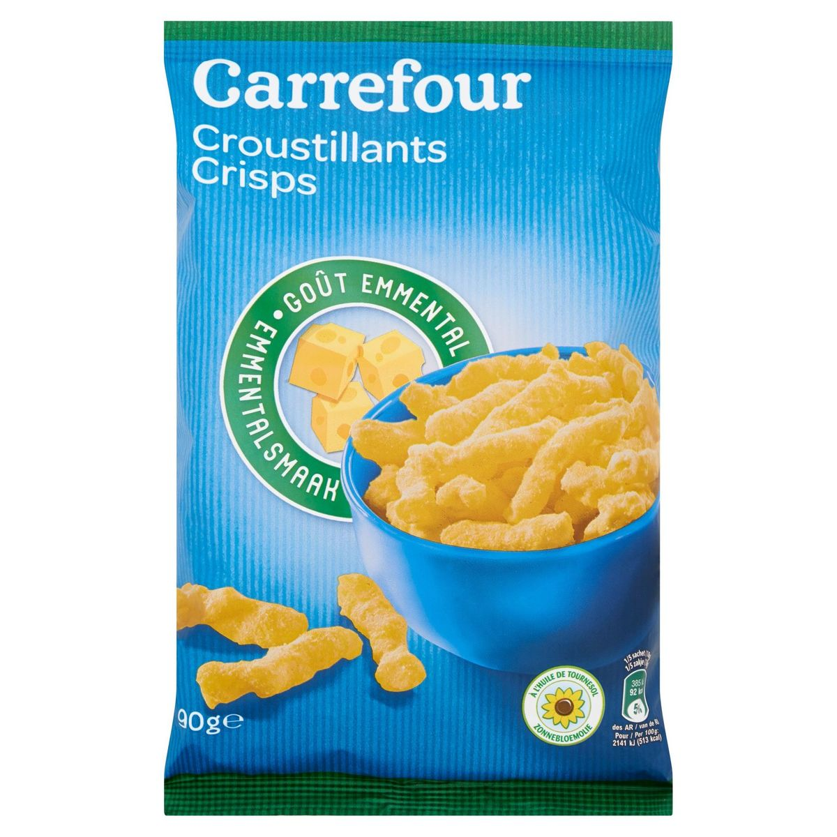 Carrefour Croustillants Goût Emmental 90 g