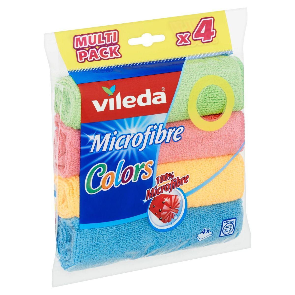 Vileda Microfibre Colors Multi Pack 4 Stuks