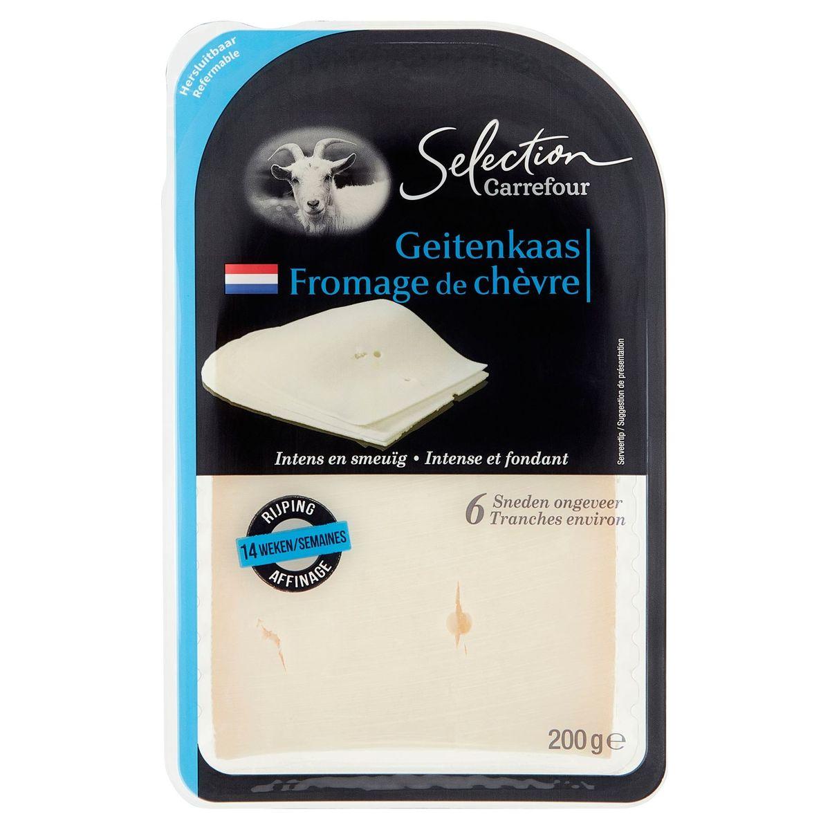 Carrefour Selection Fromage de Chèvre 8 Tranches Environ 200 g