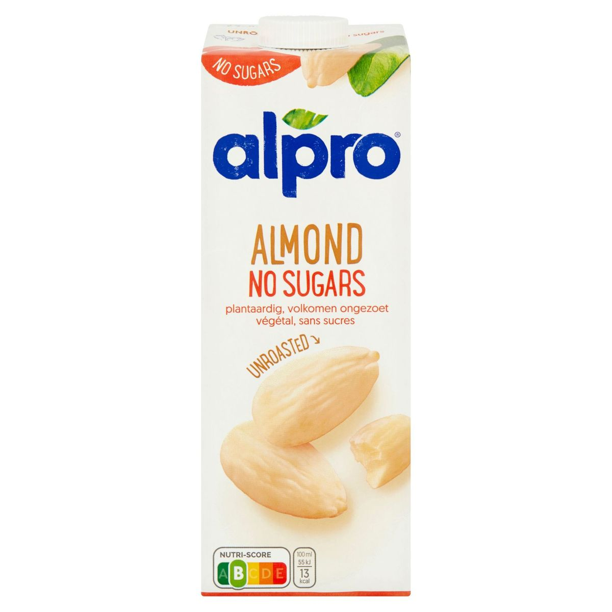 Alpro Amandeldrink Ongeroosterd Zonder Suikers 1 L