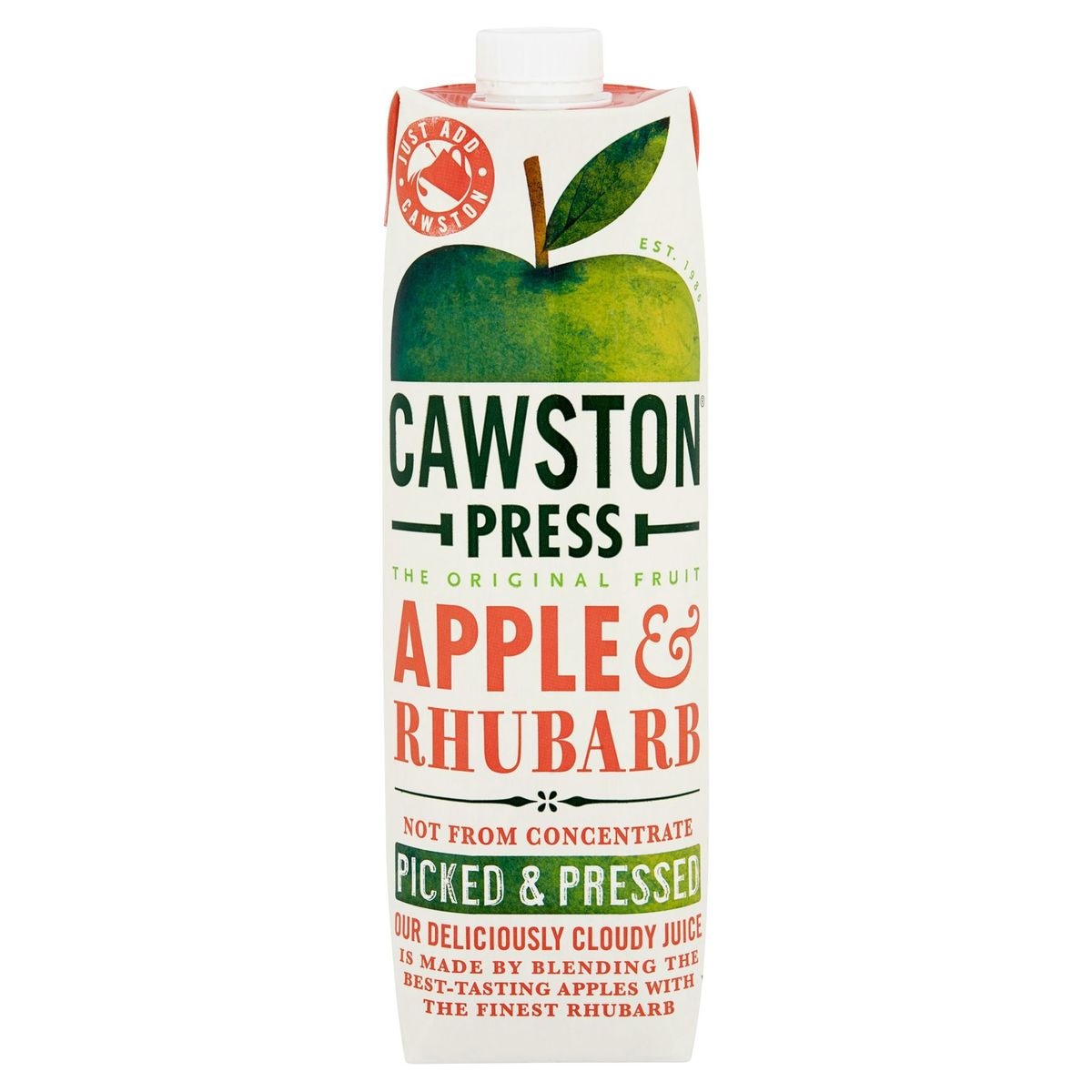 Cawston Press The Original Fruit Apple & Rhubarb 1 L