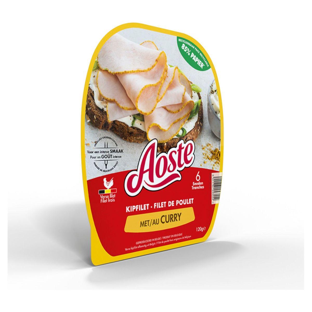 Aoste Kip met Curry 6 Sneden 120 g