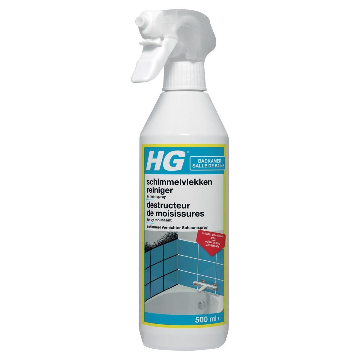 HG Sanitaire Spray Moussant Destructeur de Moisissures 500 ml