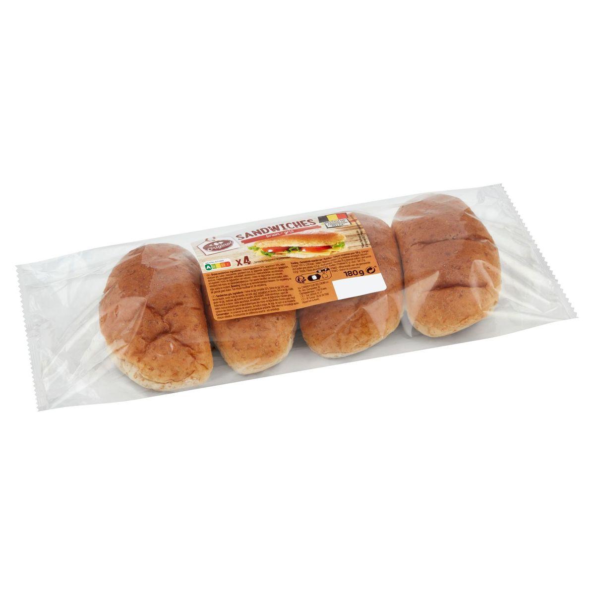 Carrefour Sandwiches Bruin 180 g