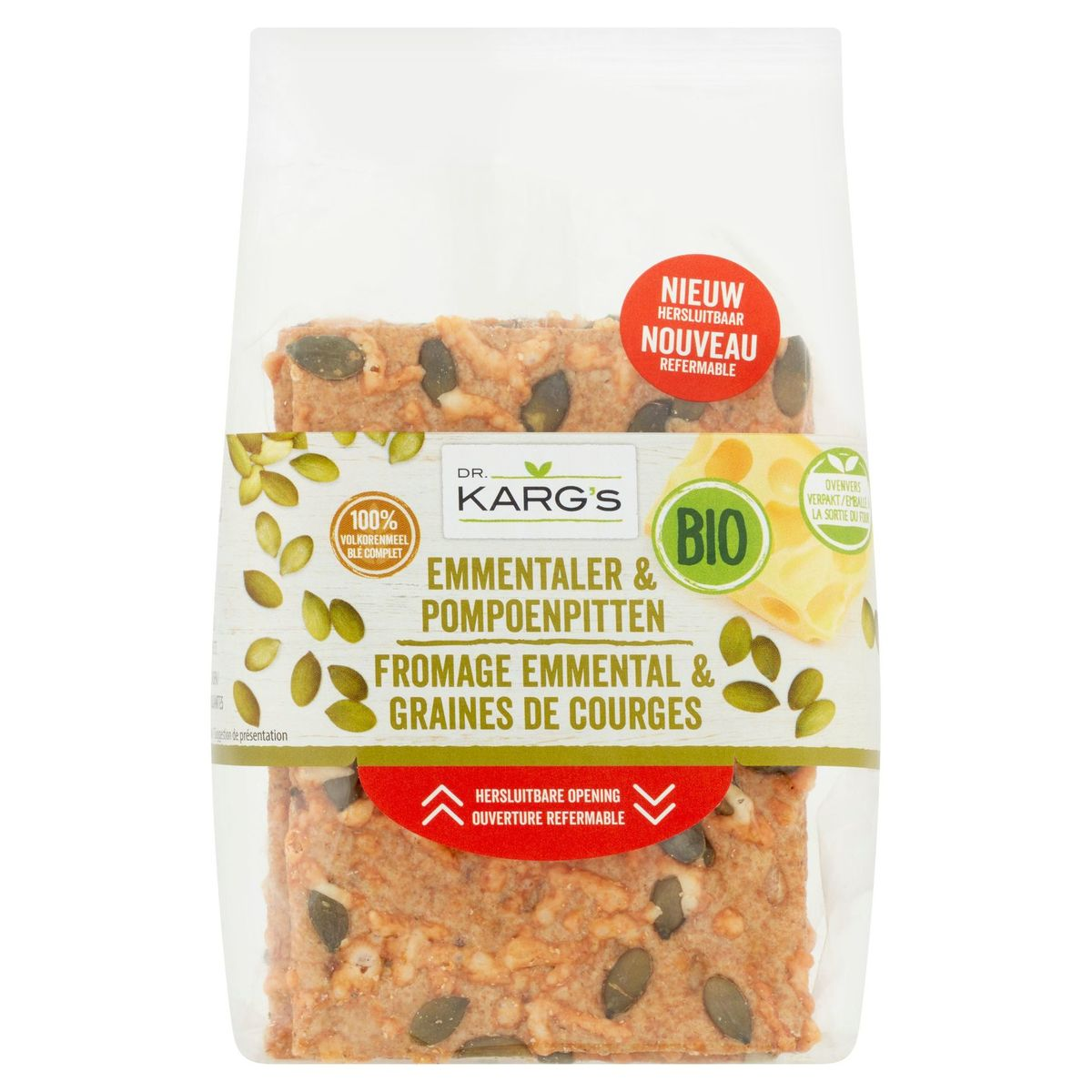 Dr. Karg's Bio Fromage Emmental & Graines de Courges 200 g