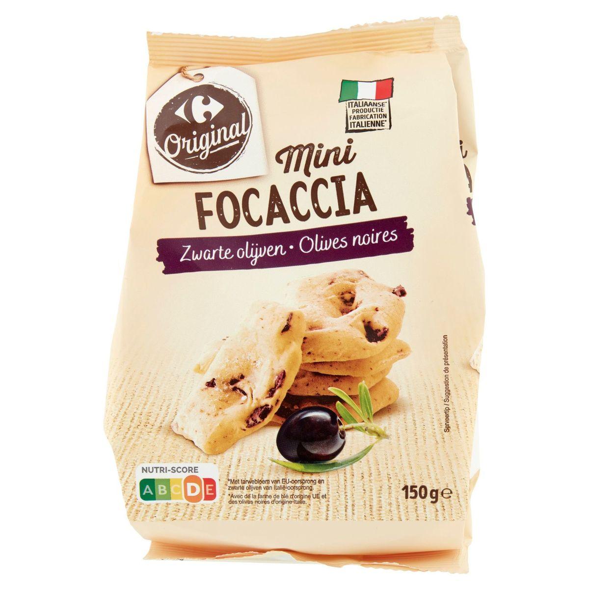 Carrefour Mini Focaccia Olives Noires 150 g