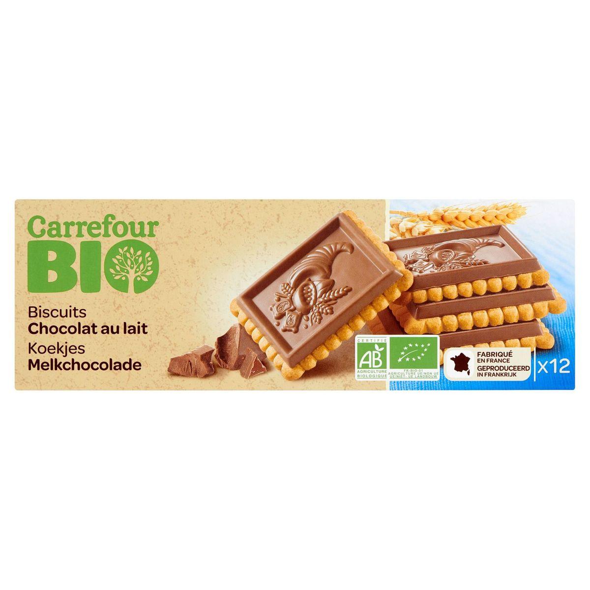Carrefour Bio Biscuits Chocolat au Lait 12 Pièces 150 g