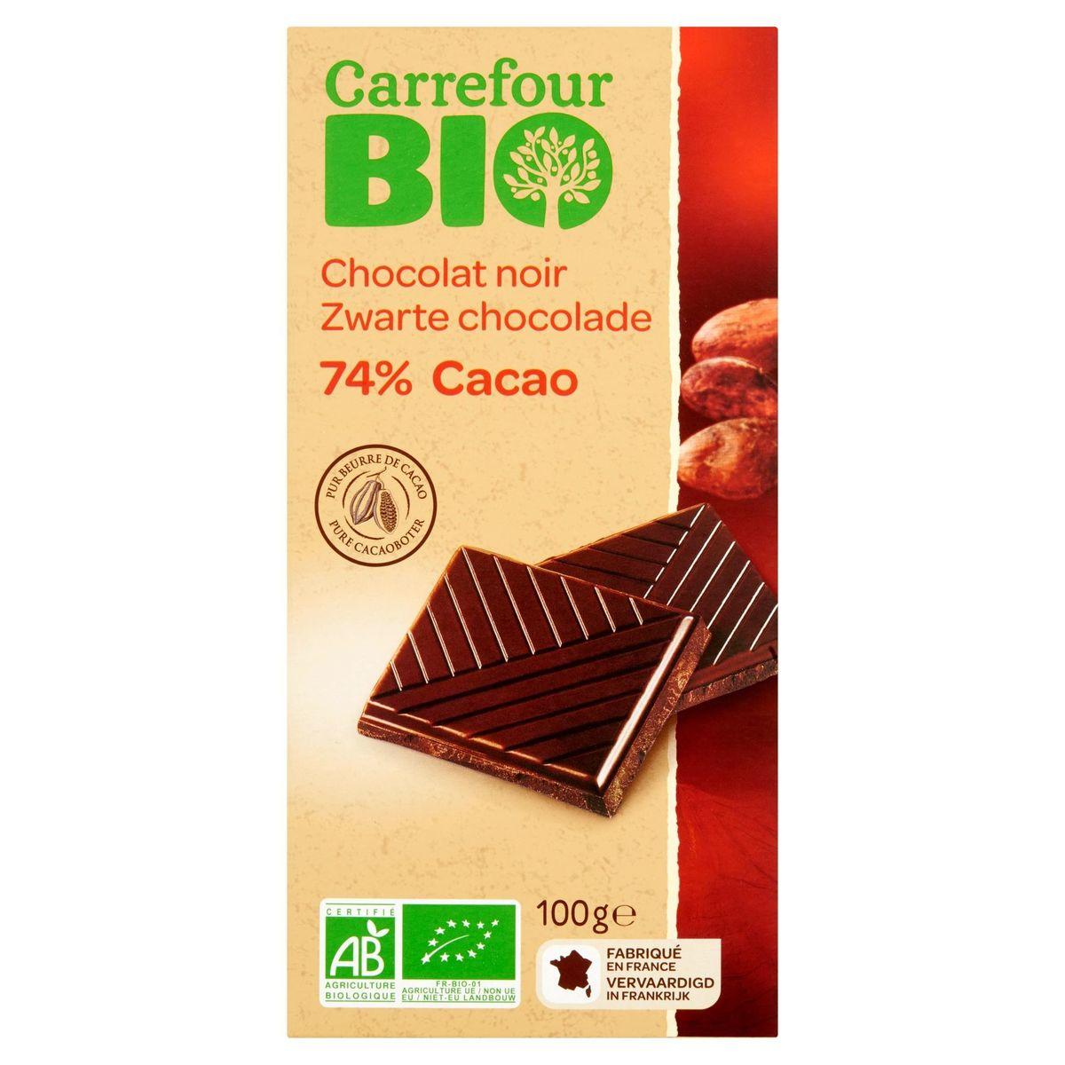Carrefour Bio Chocolat Noir 74% Cacao 100 g