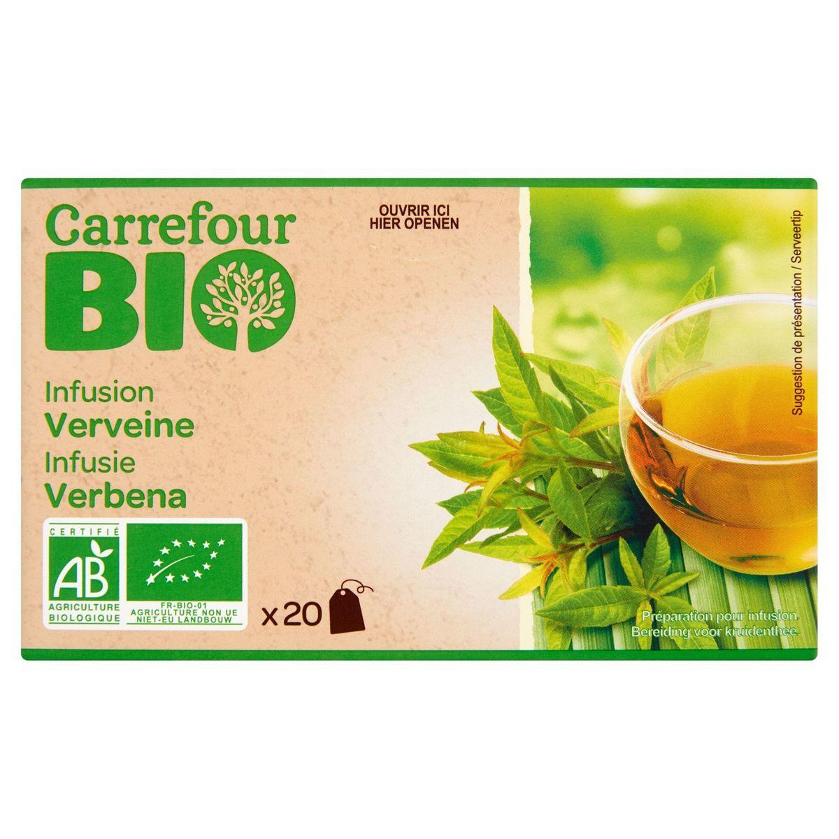 Carrefour Bio Infusion Verveine 20 Sachets 26 g