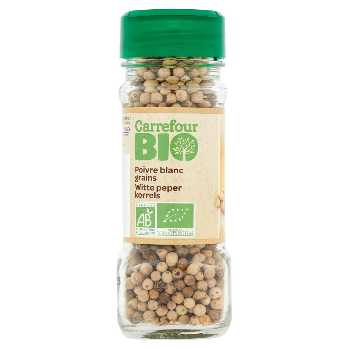 Carrefour Bio Witte Peper Korrels 50 g