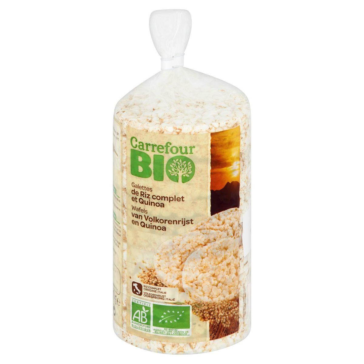 Carrefour Bio Wafels van Volkorenrijst en Quinoa 100 g