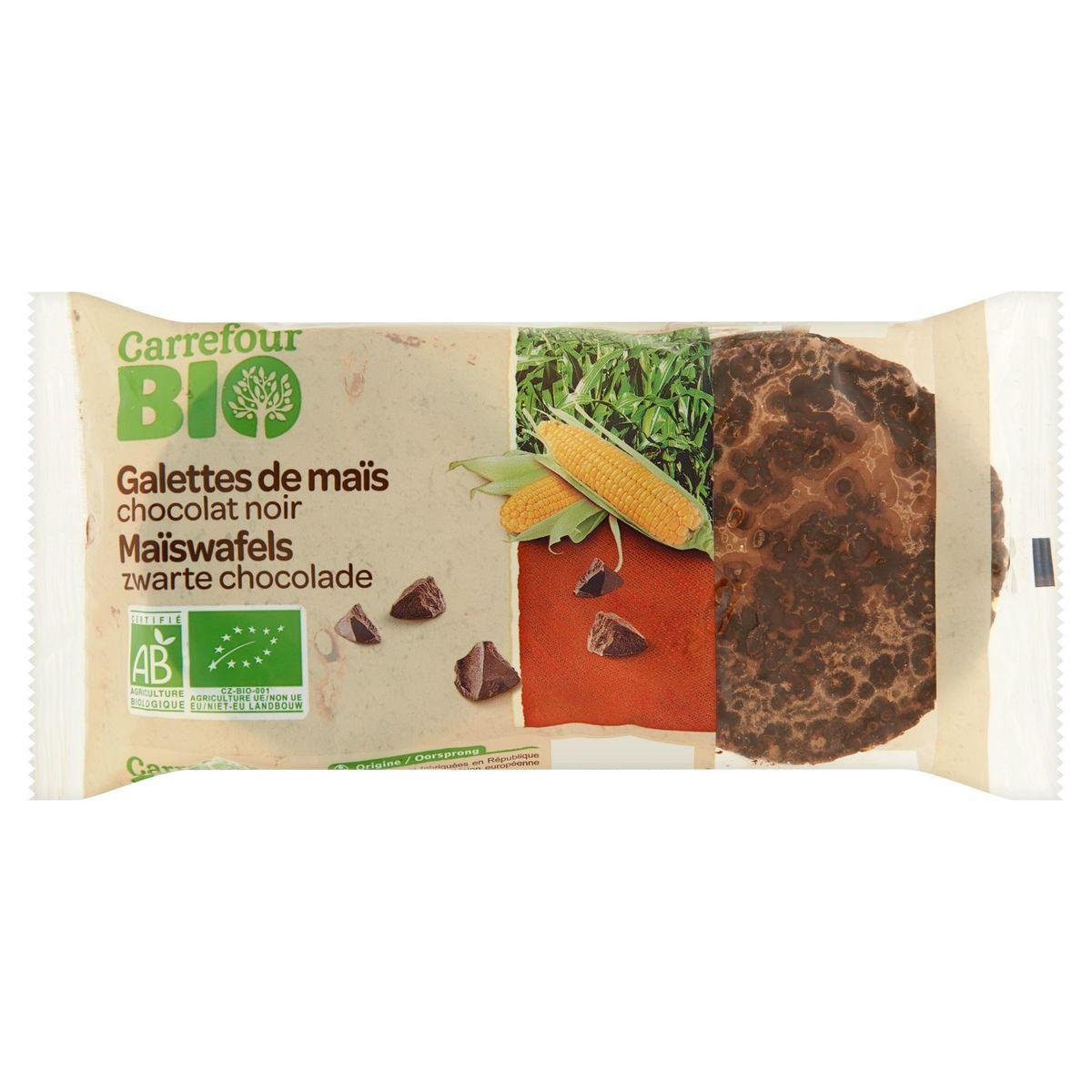 Carrefour Bio Galettes de Maïs Chocolat Noir 100 g