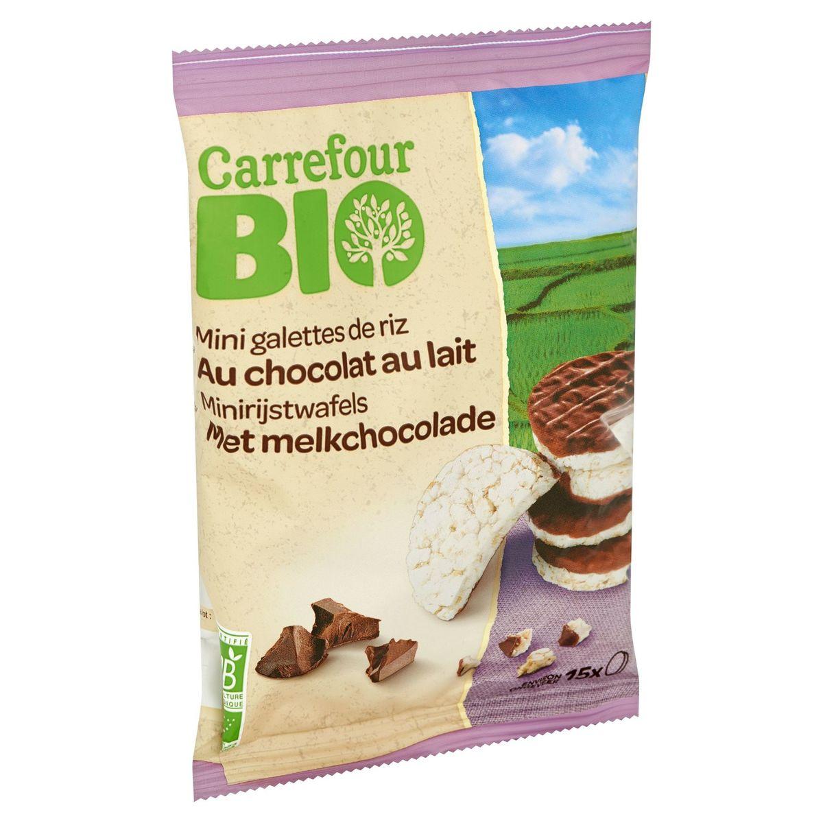Carrefour Bio Mini Galettes de Riz au Chocolat au Lait 60 g