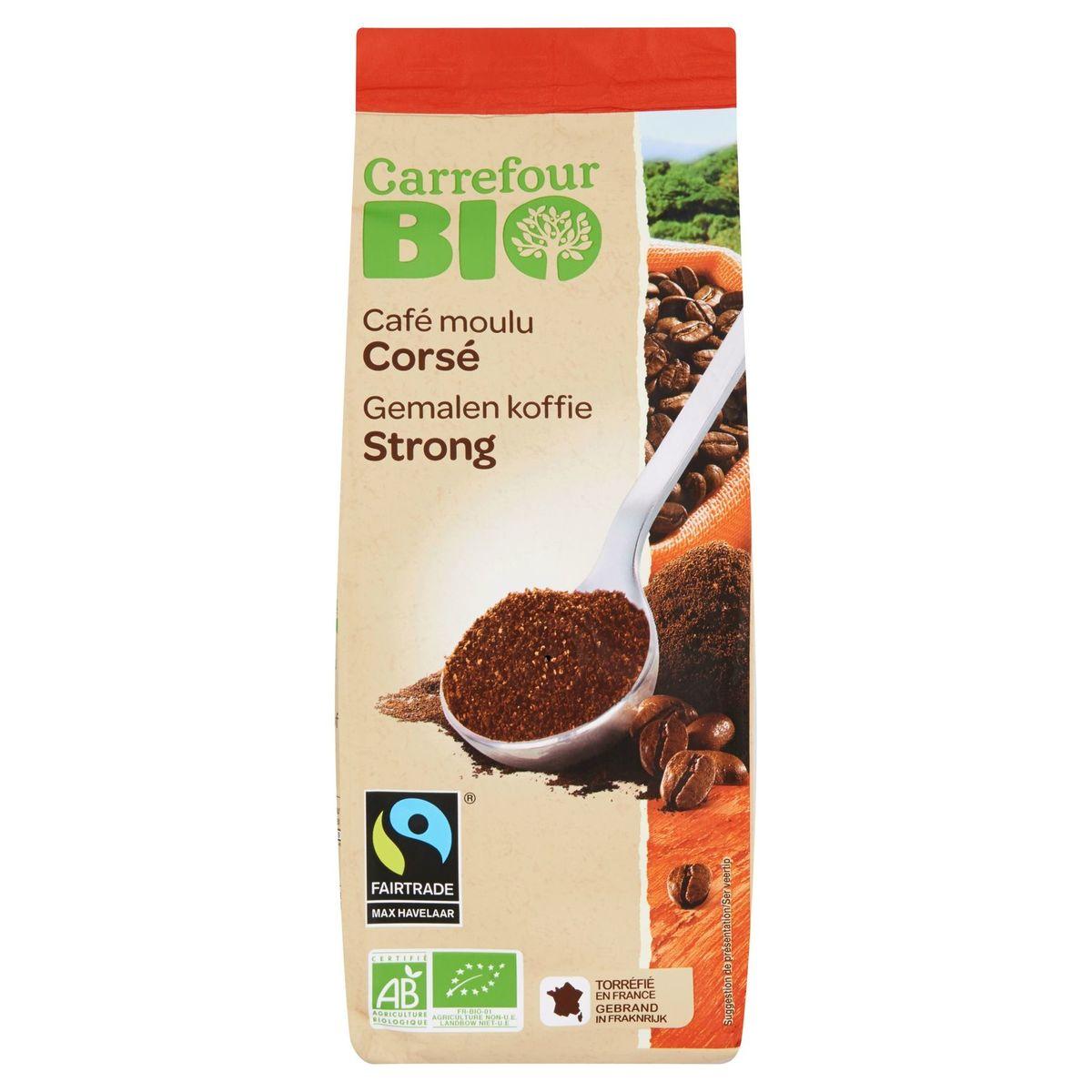 Carrefour Bio Café Moulu Corsé 250 g