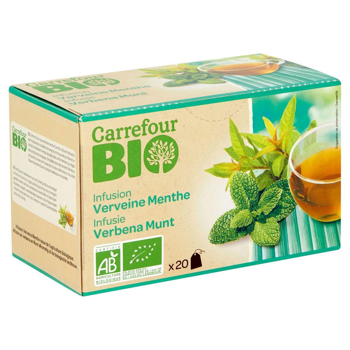 Carrefour Bio Infusion Verveine Menthe 20 Pièces 30 g