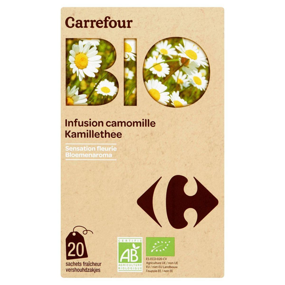 Carrefour Bio Infusion Camomille 20 Sachets Fraîcheur 30 g