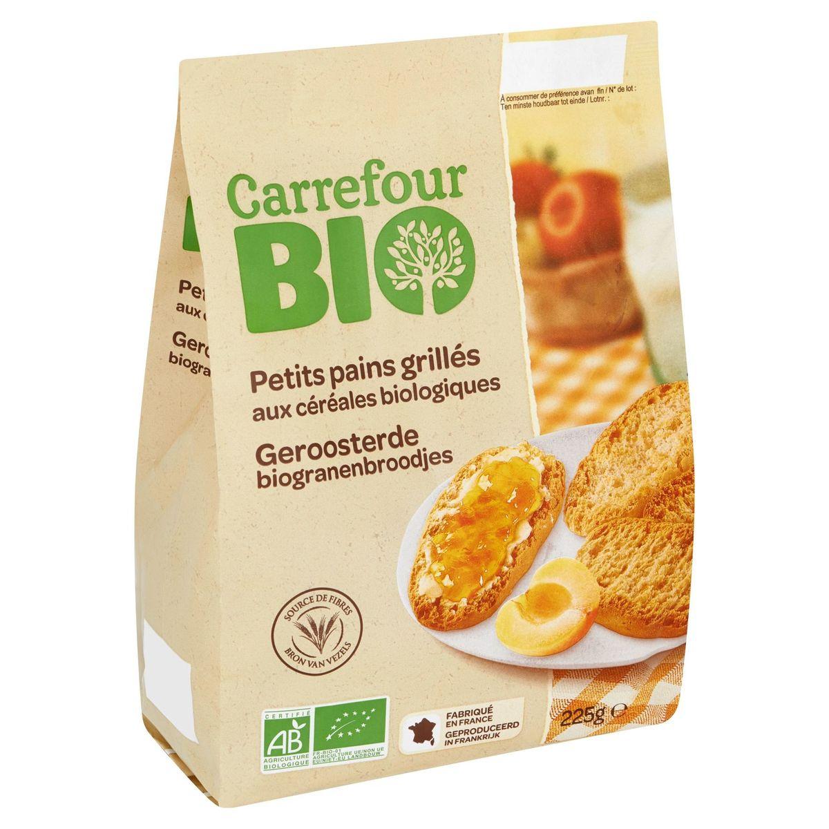 Carrefour Bio Petits Pains Grillés aux Céréales Biologiques 225 g