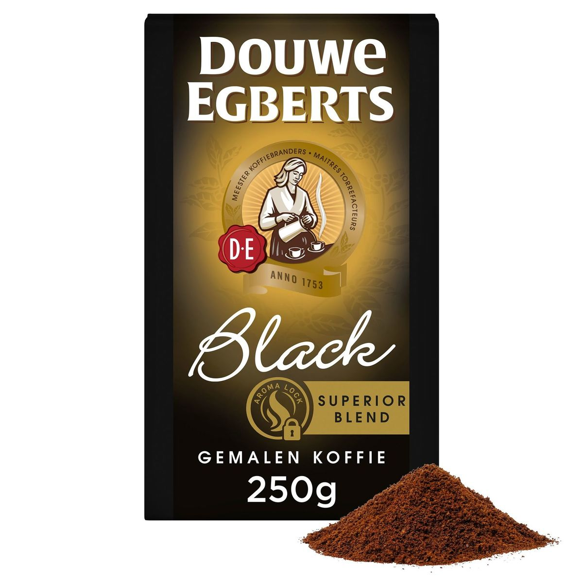 DOUWE EGBERTS Café Moulu Black 250 g