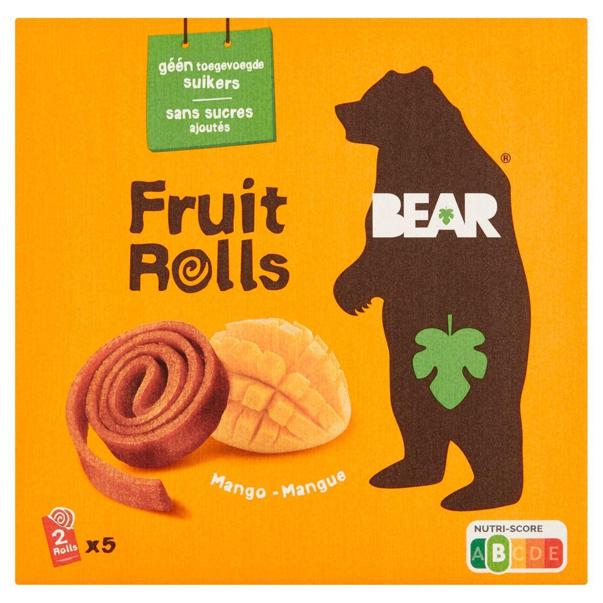 BEAR Fruit Rolls Mango, Fruit Snack, 5x2 rolletjes