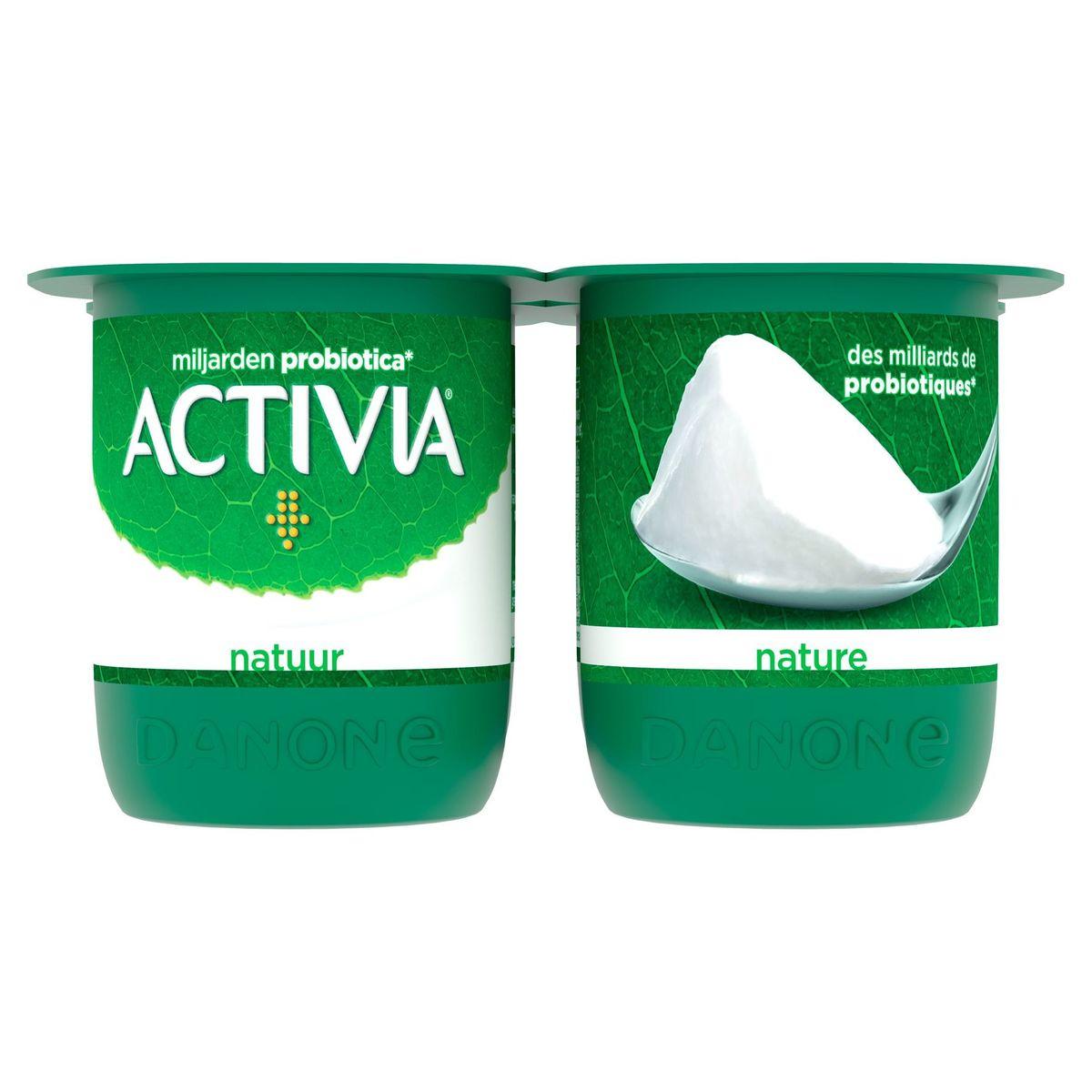 Activia Yaourt Nature avec Probiotiques 4 x 125 g